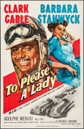 """Movie Posters:Adventure, To Please a Lady (MGM, 1950). One Sheet (27"""" X 41""""). Adventure.. ..."""