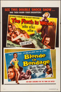 "Movie Posters:Exploitation, The Flesh Is Weak/Blonde in Bondage Combo (DCA, 1957). One Sheet (27"" X 41""). Exploitation.. ..."