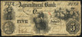 Obsoletes By State:Iowa, (Fort) Des Moines, IA- A.J. Stevens on Agricultural Bank ofTennessee $5 July 28, 1856. ...
