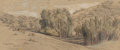 Fine Art - Work on Paper, Samuel Colman (American, 1832-1920). Eucalyptus Groves on theCooper Ranch, Santa Barbara, March 12, 1898 and Cypr...(Total: 2 Items)
