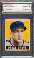 Baseball Cards:Singles (1940-1949), 1948 Leaf Orval Grove #66 PSA NM-MT 8 - Pop Five, None Higher!...