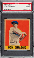 Baseball Cards:Singles (1940-1949), 1948 Leaf Dom DiMaggio #75 PSA NM 7 - Pop Three, Only Two Higher. ...