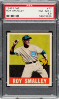 Baseball Cards:Singles (1940-1949), 1948 Leaf Roy Smalley #77 PSA NM-MT+ 8.5 - Pop One, Only Two Higher. ...