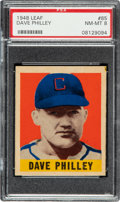 Baseball Cards:Singles (1940-1949), 1948 Leaf Dave Philley #85 PSA NM-MT 8 - None Higher! ...