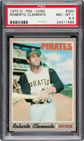 Baseball Cards:Singles (1970-Now), 1970 O-Pee-Chee Roberto Clemente #350 PSA NM-MT+ 8.5 - Pop One, TwoHigher....