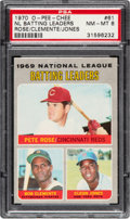Baseball Cards:Singles (1970-Now), 1970 O-Pee-Chee Rose/Clemente - NL Batting Leaders #61 PSA NM-MT 8....