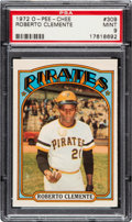 Baseball Cards:Singles (1970-Now), 1972 O-Pee-Chee Roberto Clemente #309 PSA Mint 9 - None Higher....