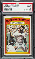 Baseball Cards:Singles (1970-Now), 1972 O-Pee-Chee Roberto Clemente In Action #310 PSA Mint 9....