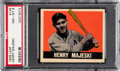 Baseball Cards:Singles (1940-1949), 1948 Leaf Henry Majeski #149 PSA NM-MT 8 - Pop One, None Higher! ...