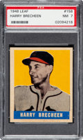 Baseball Cards:Singles (1940-1949), 1948 Leaf Harry Brecheen #158 PSA NM 7 - None Higher! ...