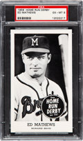 Baseball Cards:Singles (1950-1959), 1959 Home Run Derby Ed Mathews PSA EX-MT 6 - Pop Six, One Higher. ...