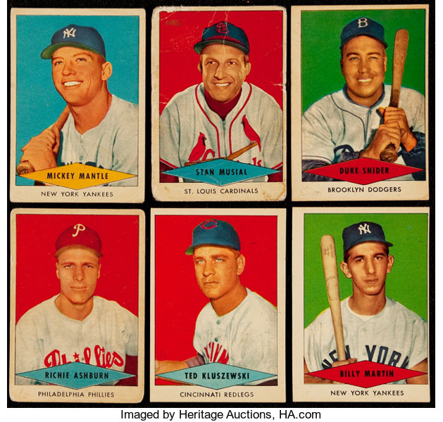 1954 Red Heart Baseball Complete Set 33 Baseball