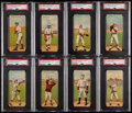 Baseball Cards:Lots, 1911 T201 Mecca Double Folders PSA-Graded Collection (8). ...