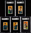 Baseball Cards:Lots, 1909-11 T206 Piedmont/Polar Bear SGC-Graded Group (5). ...