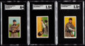 Baseball Cards:Lots, 1900-11 T206 White Borders Collection (10) with Two HoFers. ...
