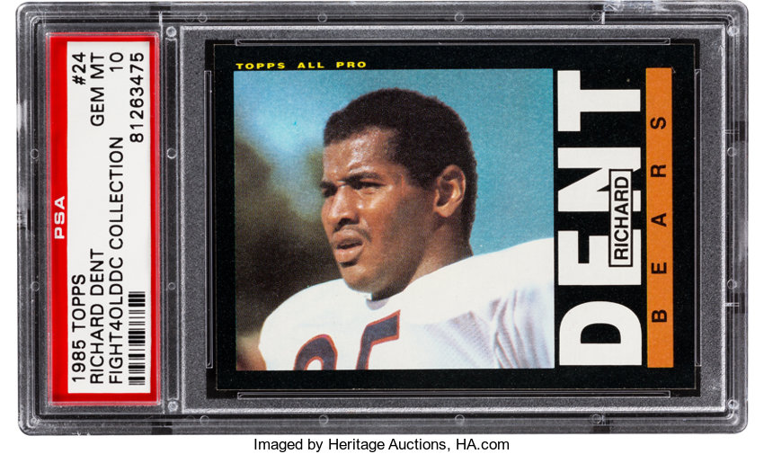 1985 Topps Richard Dent 24 Psa Gem Mint 10 Football