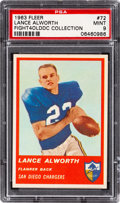 Football Cards:Singles (1960-1969), 1963 Fleer Lance Alworth #72 PSA Mint 9 - Only One Higher....
