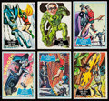 Non-Sport Cards:Lots, 1966 Topps Batman Collection - Blue Bat & Black Bat (84). ...