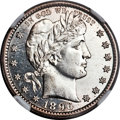 Barber Quarters, 1896-S 25C MS62 Prooflike NGC....