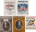 Political:Small Paper (1896-present), Woodrow Wilson: Five Pieces of Sheet Music.... (Total: 5 Items)
