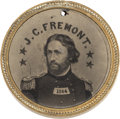Political:Ferrotypes / Photo Badges (pre-1896), John C. Frémont: Very Rare 1864-Dated Back-to-Back Ferrotype....