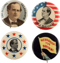 William Jennings Bryan: Campaign Buttons From All His Elections