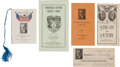 Political:Small Paper (1896-present), Harding, Coolidge and Franklin D. Roosevelt: Scarce AssortedEphemera. ...