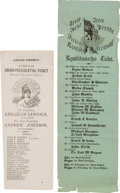 Political:Small Paper (pre-1896), John C. Frémont and Abraham Lincoln: Pair of Ohio Ballots. ...(Total: 2 Items)