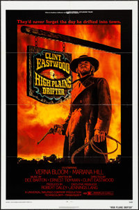 "High Plains Drifter (Universal, 1973). One Sheet (27"" X 41""). Ron Lesser Artwork. Western"