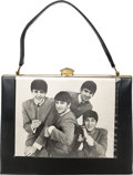 Music Memorabilia:Memorabilia, Beatles Black Vinyl Handbag (UK - Ramat, 1964)....