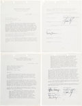 Music Memorabilia:Documents, Eagles Member Signed Contracts....