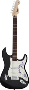 Musical Instruments:Electric Guitars, AC/DC Signed Fender Affinity Series Squire Strat Electric Guitar with Certificate of Authenticity....