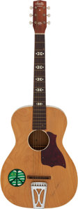 Music Memorabilia:Autographs and Signed Items, Lightnin' Hopkins Signed Acoustic Guitar....