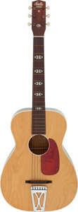 Music Memorabilia:Autographs and Signed Items, Mance Lipscomb Signed Acoustic Guitar (1960s)....