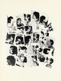 Music Memorabilia:Posters, Rolling Stones Love You Live Poster Designed By Andy Warhol (1977). Rare....