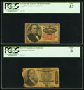Fractional Currency:Fifth Issue, Fr. 1308 25¢ Fifth Issue PCGS Fine 12;. Fr. 1379 50¢ Fifth Issue PCGS Good 6.. ... (Total: 2 notes)