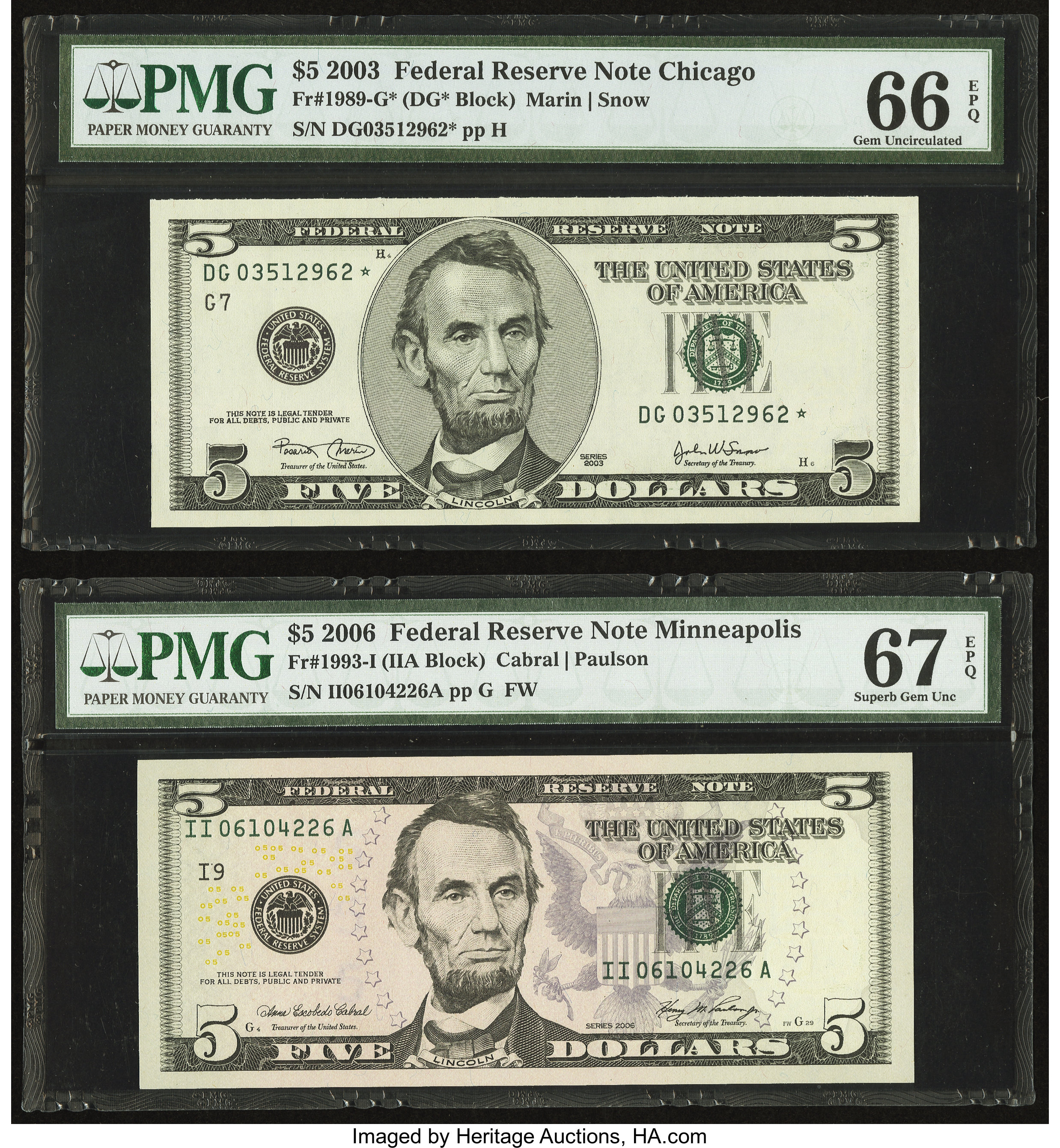 2003 ~ $2 USA Federal Reserve Star Note ~ Minneapolis Federal Reserve Bank ~ UNC