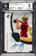 Football Cards:Singles (1970-Now), 2005 SP Authentic Rookie Authentics Aaron Rodgers #252 BGS Mint 9, Auto 8 - #34/99. ...