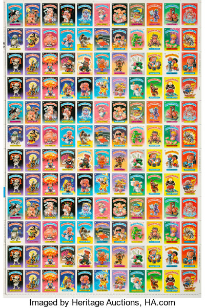 1985 Topps Garbage Pail Kids Series 1 Uncut Sheet With 132 Lot 81708 Heritage Auctions
