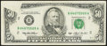 Error Notes:Obstruction Errors, Obstruction Error Fr. 2125-B $50 1993 Federal Reserve Note.Extremely Fine.. ...