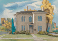 Bror Utter (American, 1913-1993) A Home on a Fall Day, 1964 Oil on canvas 21 x 30 inches (53.3 x