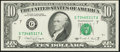 Error Notes:Ink Smears, Ink Smears on Back Error Fr. 2028-G $10 1988A Federal Reserve Note. Choice About Uncirculated.. ...