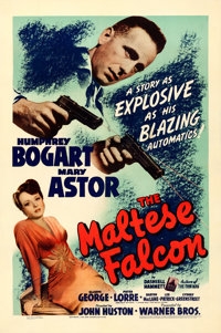 """The Maltese Falcon (Warner Brothers, 1941). One Sheet (27"""" X 41"""")"""