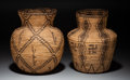 American Indian Art:Baskets, Two Apache Coiled Jars... (Total: 2 Items)
