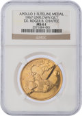 Explorers:Space Exploration, Apollo 1 Unflown MS61 NGC Gold-colored Fliteline Medallion Originally from the Personal Collection of Crewmember Roger Chaffee...