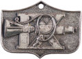 Explorers:Space Exploration, Gemini 9A Flown Silver Fliteline Medallion with Hole for Attachment to Necklace, Originally from the Collection of Mission Pil...