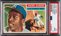 Baseball Cards:Singles (1950-1959), 1956 Topps Hank Aaron (White Back) #31 PSA Mint 9 - None Higher....
