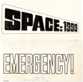 Original Comic Art:Miscellaneous, Charlton Artist Space: 1999 and Emergency!Hand-Lettered Logo Original Production Art (Charlton, c. 19...(Total: 2 Original Art)