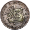 Explorers:Space Exploration, Gemini 4 Flown Silver Fliteline Medallion Originally from the Personal Collection of Mission Pilot Edward White II, with A...