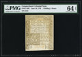 Colonial Notes:Connecticut, Connecticut June 19, 1776 1s 3d PMG Choice Uncirculated 64 EPQ.....